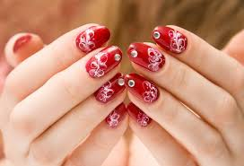 modern red nail art idea for formal functions trends4us com
