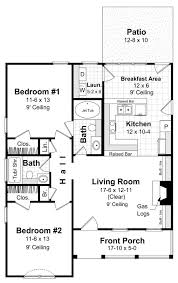 Small 2 Bedroom House Floor Plans 280 Best House Plans Images On Pinterest Small House Plans