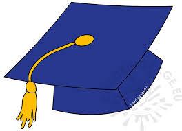 blue graduation cap blue graduation hat with gold tassel coloring page