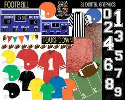 football clipart football digital paper football clip art football