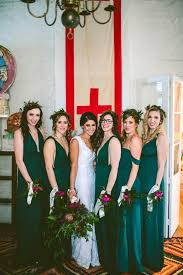 emerald green bridesmaid dress eccentric new orleans wedding at the pharmacy museum and race
