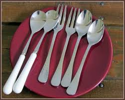 dining room cozy walmart silverware with stainless steel material