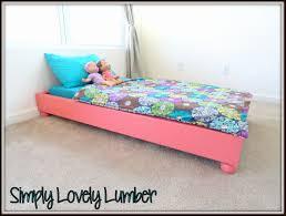 Diy Platform Bed Project Ana White Platform Toddler Bed Diy Projects