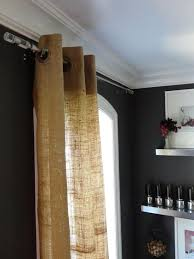 Brown Burlap Curtains Burlap Curtains Are An Affordable Way To Get A Designer Look Diy