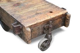 vintage factory cart coffee table olde good things