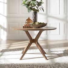 free dining table near me nadine mid century walnut finish round dining table by inspire q