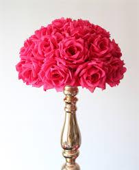 Flower Ball 55cm 2pcs Lot Plum Fuschia Hanging Flower Ball Centerpieces Silk
