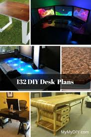 Desk Plans Diy 132 Diy Desk Plans You Ll Mymydiy Inspiring Diy Projects