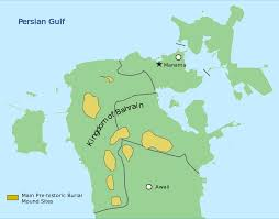 Map Of Bahrain Dilmun Burial Mounds Wikipedia
