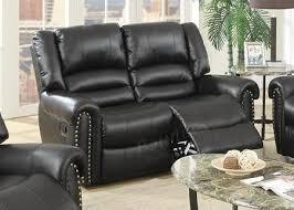 malta black leather reclining loveseat steal a sofa furniture