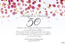texte anniversaire 50 ans de mariage invitation anniversaire mariage pétales de roses 123 cartes