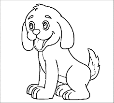 puppy outline coloring page