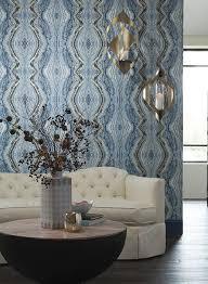 blue kaleidoscope wallpaper kaleidoscope wallpaper in blue by antonina vella for york