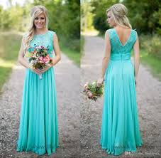 bridesmaid dresses teal 2017 country turquoise bridesmaids dresses sheer neck