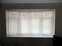 contemporary bay window curtain rod with bali blinds wooden