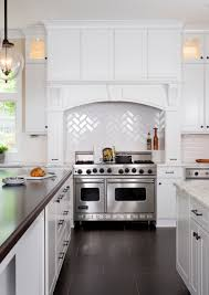 Carrara Marble Kitchen Backsplash A Classic White Kitchen Featuring Calacatta Marble Countertops And