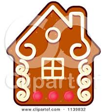 clipart of a house gingerbread christmas cookie royalty free