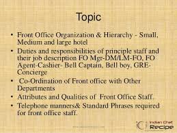 Front Desk Hotel Responsibilities Front Office Organisation In Hotel