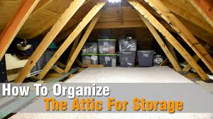 how to organize the attic for storage youtube