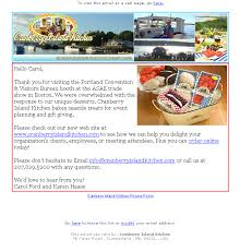 cranberry island kitchen email marketing strategy spire express portland me