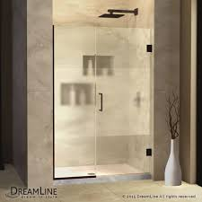 bathroom flower vases with bathroom niche and frosted shower door