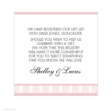 stunning wedding invite gift list wording images images for