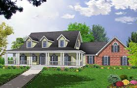 Country Home Plans With Front Porch House Plan 86133 At Familyhomeplans Com Country Farmhouse Plans