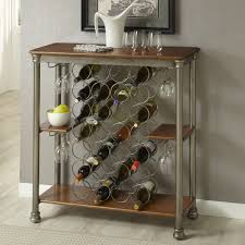 Dining Room Table With Wine Rack by Coaster Memphis 102765 Brown Wood Buffet Table In Los Angeles Ca