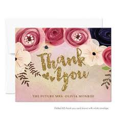 personalized thank you cards silver gold black the spotted olive