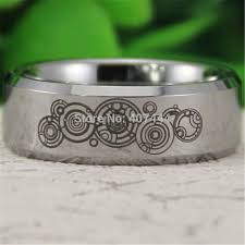 doctor who wedding ring free shipping ygk jewelry hot sales 8mm silver beveled doctor who