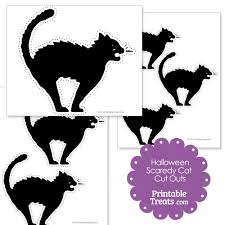 Halloween Cut Outs Printable Halloween Scaredy Cat Cut Out U2014 Printable Treats Com
