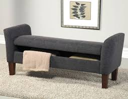 Padded Storage Bench Bench Bedroom Upholstered Storage Bench Bedroom Bench With Arms