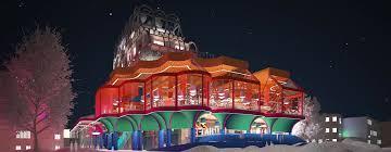popular träbågen culture center by space popular illuminates skellefteå
