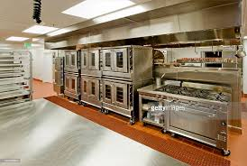 Commercial Prep Table Commercial Kitchen With Prep Table Stove And Ovens Stock Photo