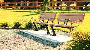 bayview park bench wishbone site furnishings
