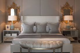 Bedrooms And More by Perfect Symmetry Of Light Hues Of Grey And Touches Of Gold