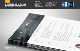 resume and cv samples 50 best resume templates for word that look like photoshop designs