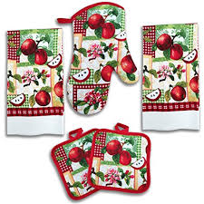 amazon com apple kitchen decor 5 piece linen set home u0026 kitchen
