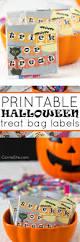 Printable Halloween Labels by Printable Halloween Treat Bag Labels Carrie Elle
