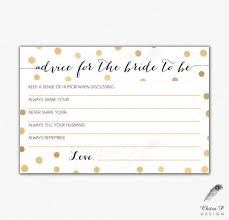 Advice Cards For The Bride Bridal Shower Advice Cards Printable 28 Images Bridal Shower