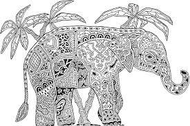 Dessin de coloriage Mandalas animaux à imprimer  CP17104