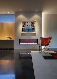 modern fireplace art rug chair stylish townhomes near boulder