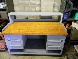 industrial steel work bench butcher block 6 drawer u2022 320 00