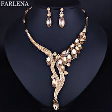 jewelry necklace earring sets images Farlena wedding jewelry fashion crystal rhinestones necklace jpg