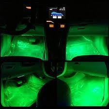 Neon Lights In Cars Interior Onepalace 4pcs Car Led Interior Underdash Lighting Kit Led Car