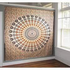 Bohemian Drapes Dreaming Mandala Throw Bed Drapes Indian Cotton Charming Tapestry