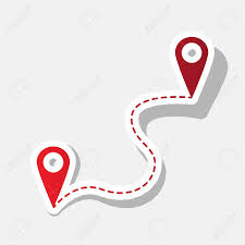 Navigation Map Location Pin Navigation Map Gps Sign Vector New Year Reddish