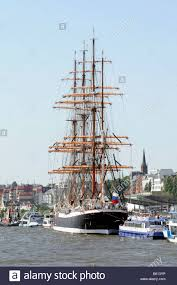 sedov the largest sailing ship in the world view of the stern in