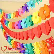 wedding backdrop garland 2pcs set multicolor tissue flower garland party decoration