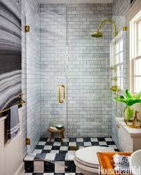 Black And White Small Bathroom Ideas Black And White Tiny Bathroom With Subway Ceramic Tiles Also